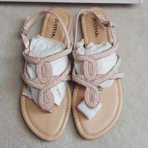 NIB JustFab Beaded Sandals